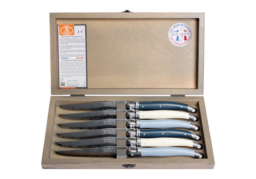Laguiole Laguiole 6 Steakmesser 1,2 mm nordic mix in Box