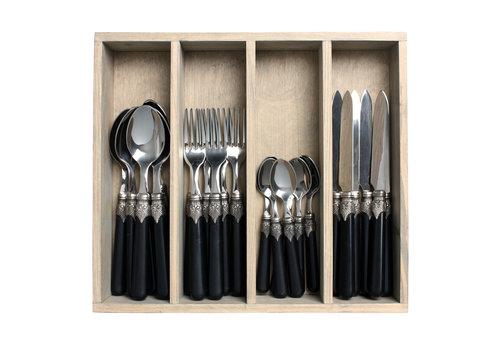 Brasserie Cutlery Set 24 Pcs black