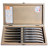 Laguiole 6 Steakmesser 1,5 mm in Kiste Edelstahl