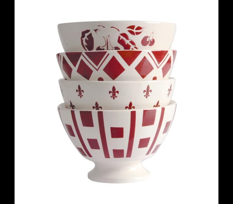 Dépôt d'Argonne 4 Bowls Medium ø13xH8 Red Mix