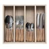 """Kom Amsterdam Wood Style 24-piece Dinner Cutlery """"Cedar"""" in Box"""