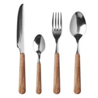"Wood Style 24-pieces dinner cutlery ""Cedar"" in box"