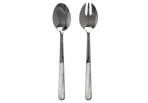 Wood Style Salad Servers Birch