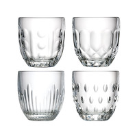 Rochère mix set 4 water/tumbler glazen 25 cl Retro