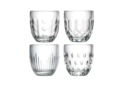 Kom Amsterdam Rochère mix set of 4 water/tumbler glasses 25 cl Retro