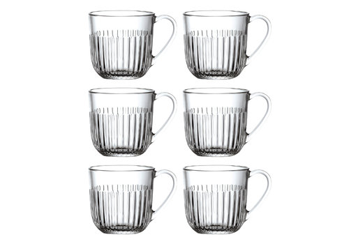 Kom Amsterdam Rochère set of 6 cappuccino / tea glasses 27 cl Breton