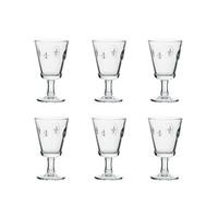 Rochère Set mit 6 Weingläsern 24 cl Französische Lilie