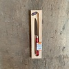 Laguiole BF2048 Laguiole Küchenmesserklinge 8 cm, Dicke 1,5 mm mit rotem Holzgriff im Display