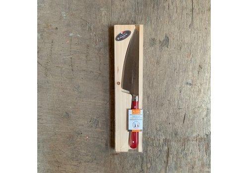 Laguiole BF2051 Laguiole kaasmes lemmet 12 cm, dikte 1,5mm met roodhouten heft in display