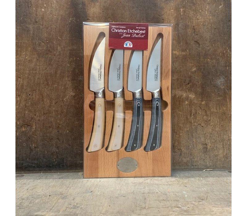 SL2061 Set mit 4 Küchenmessern Laguiole