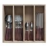 """Kom Amsterdam Wood Style  24-teiliges Besteck """"Akazie"""" in Holzbox"""