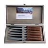 """Kom Amsterdam Wood Style 6 Steakmesser """"Akazie"""" in Kiste"""