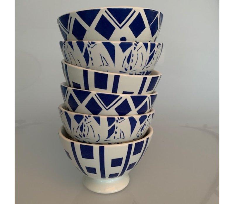 Dépôt d'Argonne 6 Bowls Medium ø13xH8 Mix Blue