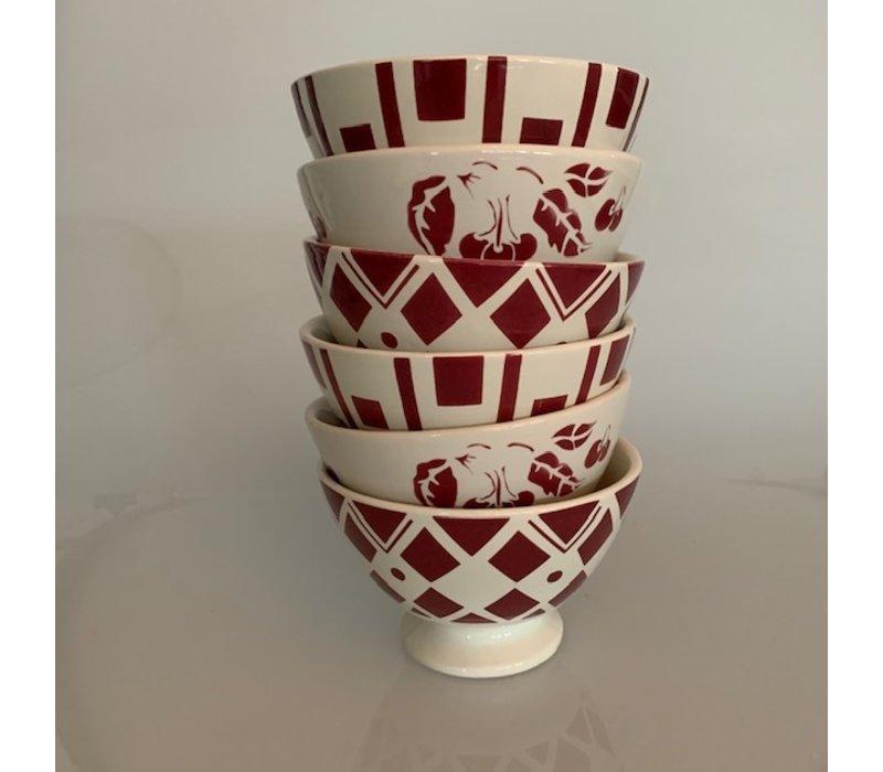 Dépôt d'Argonne 6 Bowls Medium ø13xH8 Mix Red