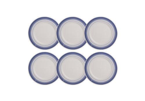 Dépôt d'Argonne Dépôt d'Argonne set 6 Dinner plate Arlequin, Blue