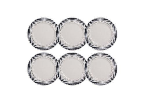 Kom Amsterdam Dépôt d'Argonne set 6 Breakfast plate Arlequin Gray