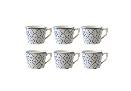 Dépôt d'Argonne Dépôt d'Argonne set of 6 Cup With Ear Fleur de Lys, Gray