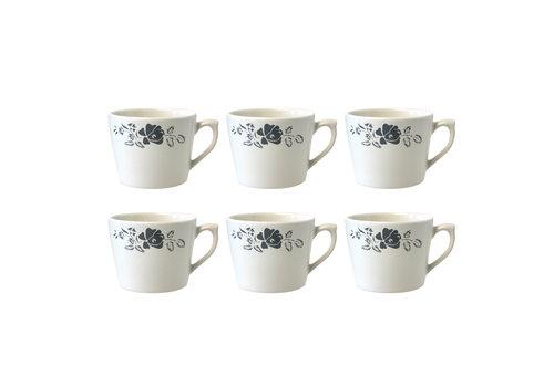 Dépôt d'Argonne Dépôt d'Argonne set of 6 Cup Cappuccino Rose, Gray