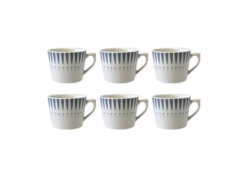 Dépôt d'Argonne Dépôt d'Argonne set of 6 Cup With Ear Arlequin, Gray