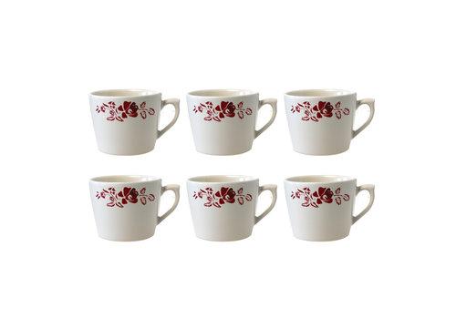 Dépôt d'Argonne Dépôt d'Argonne set of 6 Cappuccino Cup Rose, Red
