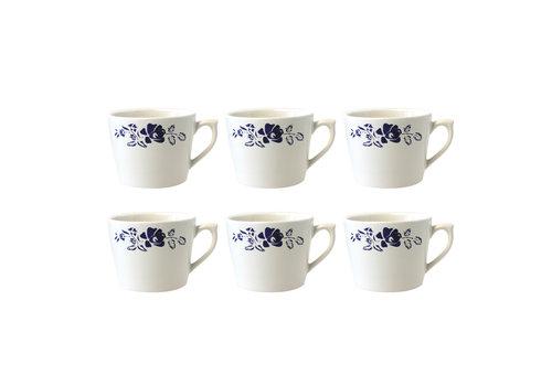 Dépôt d'Argonne Dépôt d'Argonne set of 6 Cappuccino Cup Rose, Blue