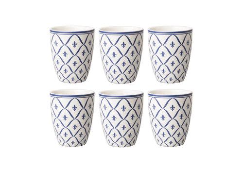 Dépôt d'Argonne Dépôt d'Argonne set of 6 Cup Fleur de Lys, Blue