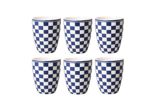 Dépôt d'Argonne Dépôt d'Argonne set of 6 Cup Damier, Blue