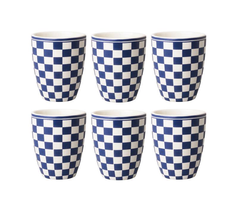Dépôt d'Argonne Cup 6er-Set Damier, Blau