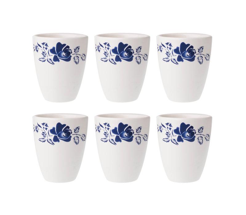 Dépôt d'Argonne Set mit 6 Cup Rose, Blau