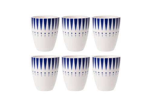 Dépôt d'Argonne Dépôt d'Argonne set of 6 Cup Arlequin, Blue