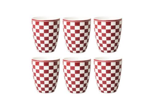 Dépôt d'Argonne Dépôt d'Argonne set of 6 Cup Damier, Red