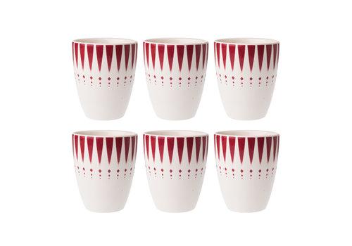 Dépôt d'Argonne Dépôt d'Argonne set of 6 Cup Arlequin, Red
