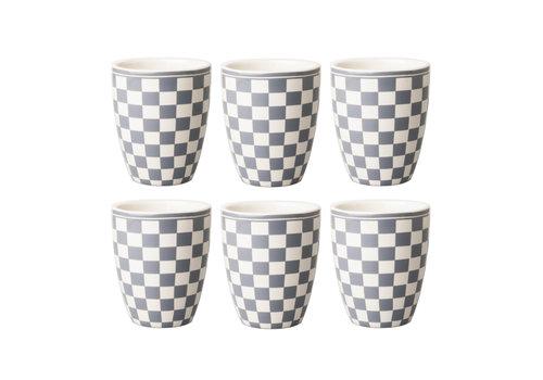 Dépôt d'Argonne Dépôt d'Argonne set of 6 Cup Damier, Gray