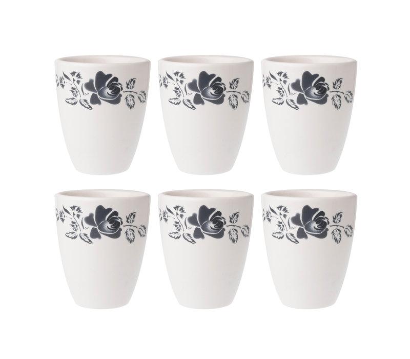 Dépôt d'Argonne set of 6 Cup Rose, Gray