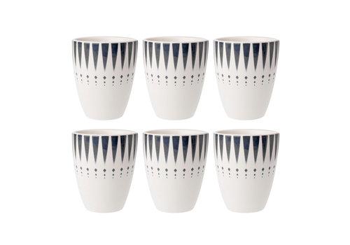 Dépôt d'Argonne Dépôt d'Argonne set of 6 Cup Arlequin, Gray