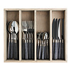 "Kom Amsterdam Antique Wood 24-piece Dinner Cutlery ""Wengé"" in Box"
