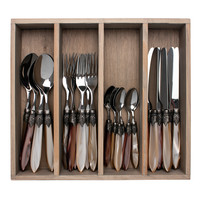 "Murano 24-piece Dinner Cutlery ""Ranger Mix"" in Box"
