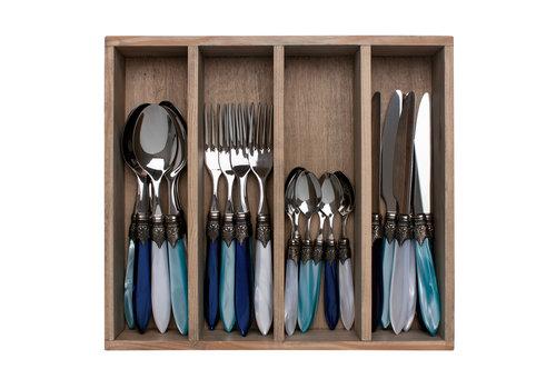 "Murano Murano 24-piece Dinner Cutlery ""Pacific Mix"" in Box"