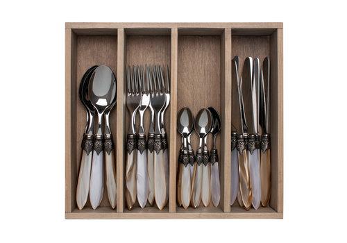 """Murano Murano 24-piece Dinner Cutlery """"Marrakesh Mix"""" in Box"""