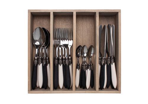 """Murano Murano 24-piece Dinner Cutlery """"Piano Mix"""" in Box"""