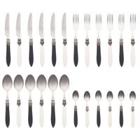 "Murano 24-piece Dinner Cutlery ""Piano Mix"" in Box"