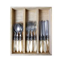 """Murano 18-piece Breakfast Cutlery """"Cream"""" in Box"""