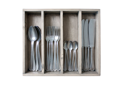 Kom Amsterdam Brocante 24-piece Dinner Cutlery No. 5 in Box