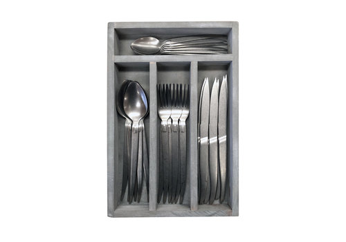 Kom Amsterdam Brocante 24-piece Dinner Cutlery Alcatraz in Box