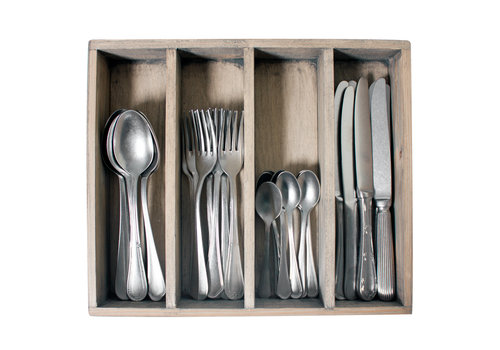 Kom Amsterdam Brocante 32-piece Dinner Cutlery 'Vintage Mix' in Box