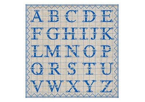French Classics ABC Blue 6 Packs of 20 Napkins