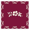 French Classics Flower Red 6 Packs of 20 Napkins