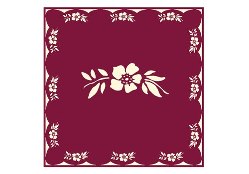 French Classics Blumenrot 6 Packungen mit 20 Servietten