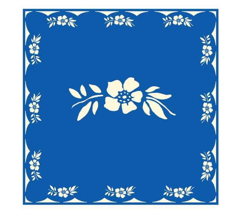 Blumenblau 6 Packungen 20 Servietten