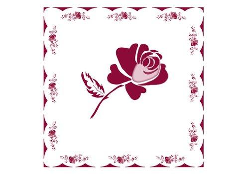 French Classics Rose Red 6 Packungen mit 20 Servietten